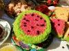 торт в виде арбуза