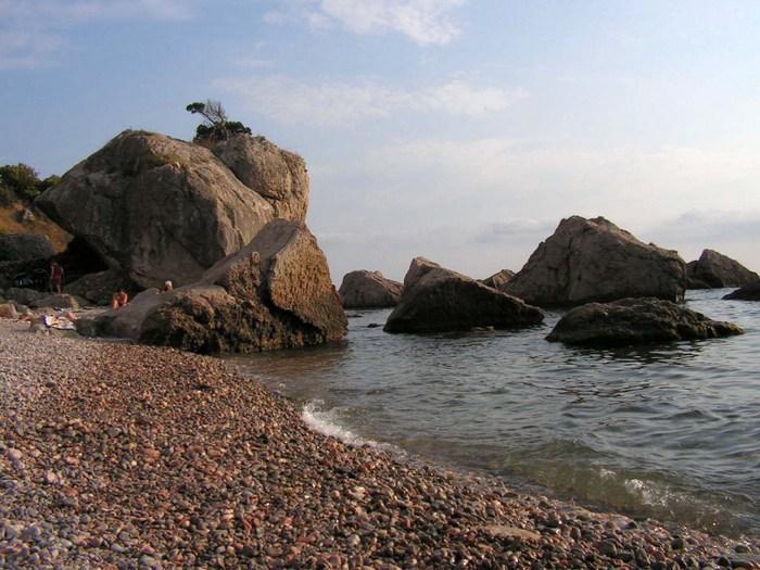 Пляж, где у каждого есть свой укромный «мир»