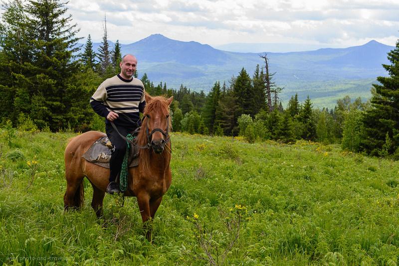 5. Вообще-то, я поднимался на другой лошади, эта — моей жены. (100, 48, 6.3, 1/125)