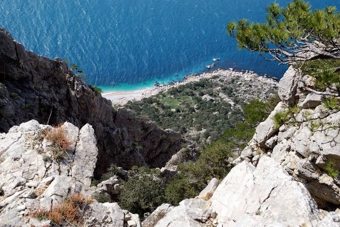 вид на море с горы Кокия-Кая