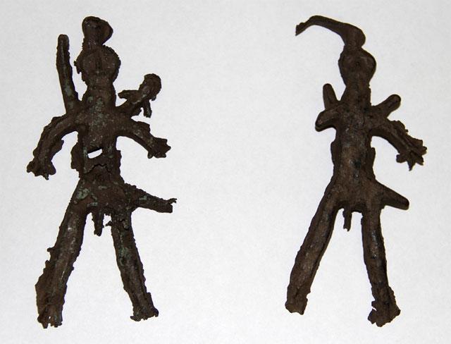древние медные фигурки