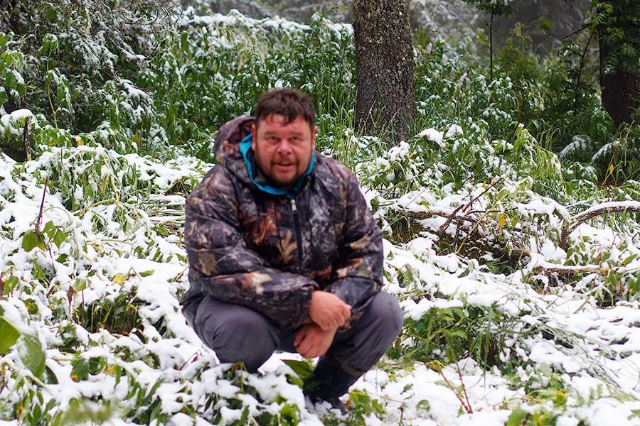 Алексей Бажин на горе Иремель