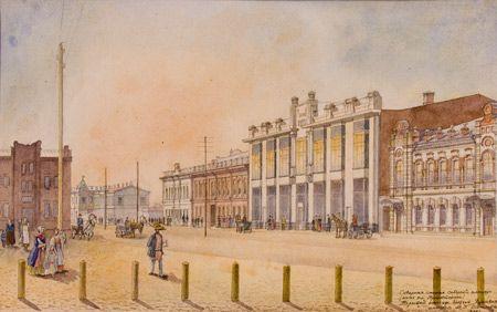 Северная сторона Соборной площади. Торговый Пассаж братьев Якушевых