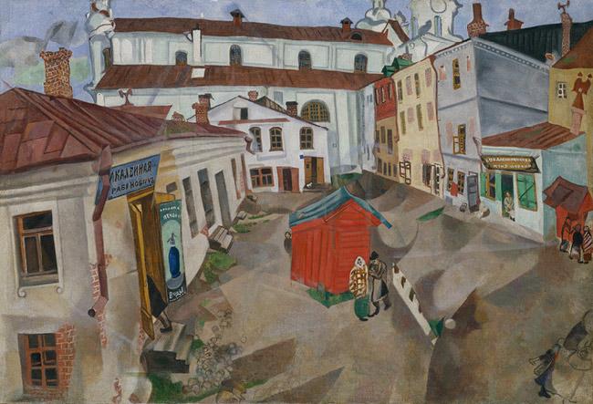 Витебск, рыночная площадь, 1917