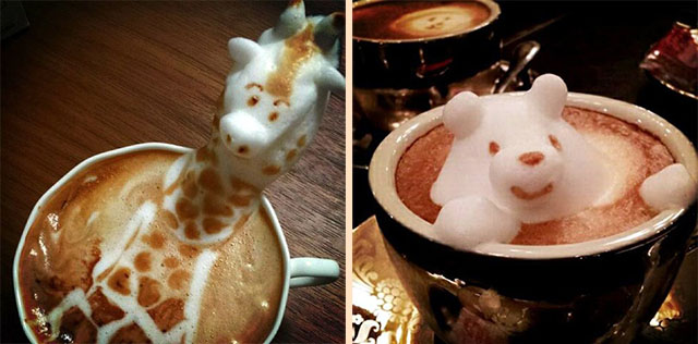 кофе рисунок 3d