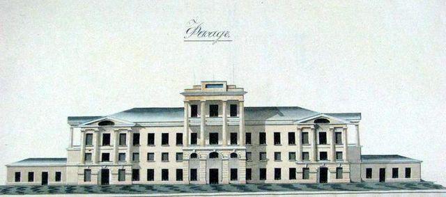 Господский дом после перестройки. Рисунок 1840 года.
