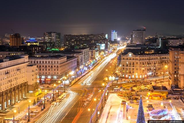 Проспект Ленина. Вид на восток.