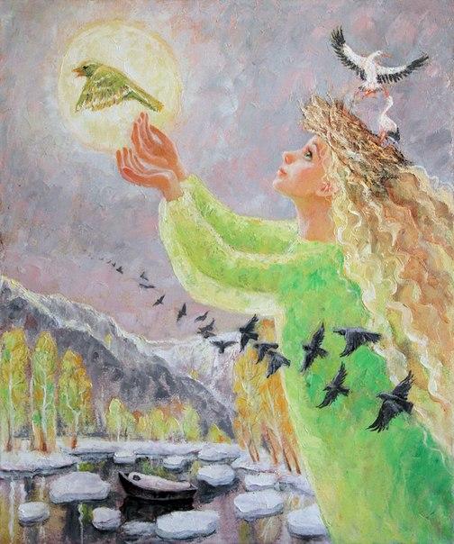 Пешкова Мария «Закличка жаворонка» 2014 г.  холст, масло