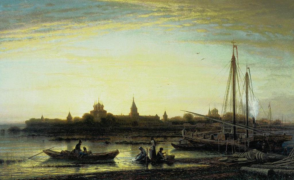 А.Боголюбов Ипатьевский монастырь близ Костромы. 1861. Холст, масло.