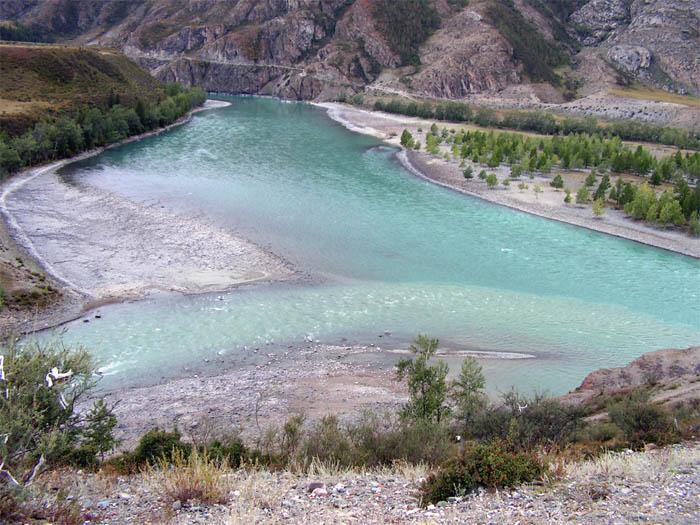 Алтай, слияние Чуи и Катуни