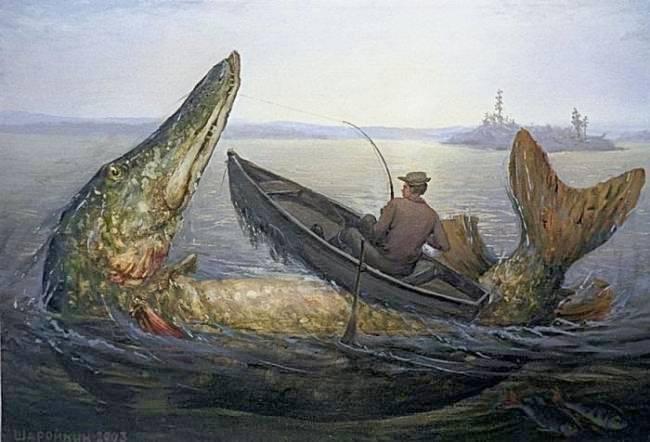 легенда про озерного монстра гигантской щуке-людоеде в озере Чебаркуль