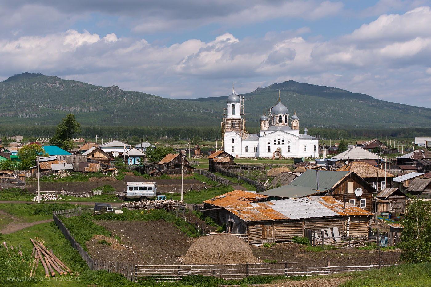 Панорама села Вознесенка в Учалинском районе Башкортостана
