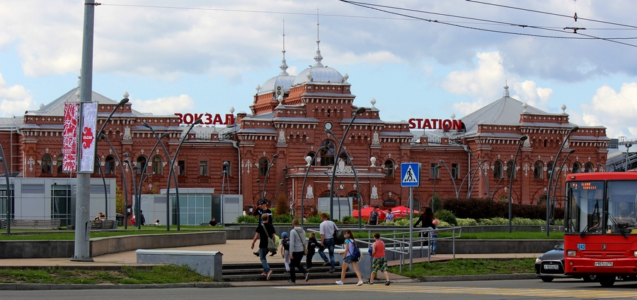 Здание железнодорожного вокзала Казань