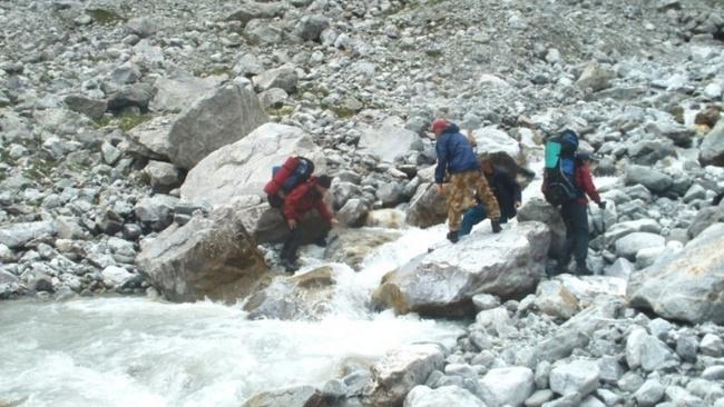 Переход через реку Хазны
