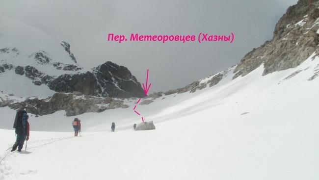 Предперевальный взлёт перевала Метеоровцев (Хазны)