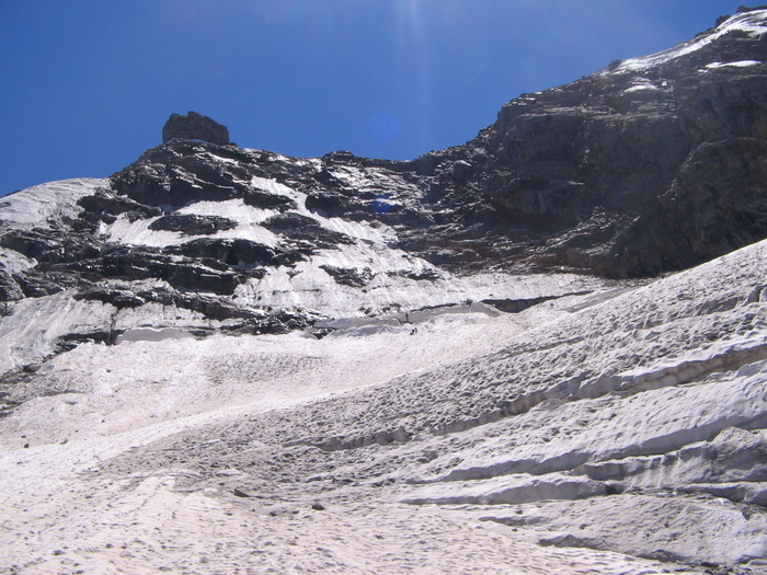 Вид с ледника Койавган на перевал Жандарм