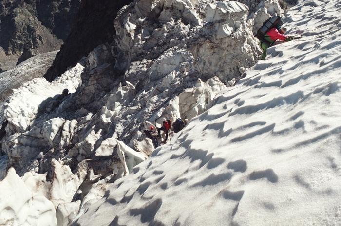 Прохождение второй ступени ледопада