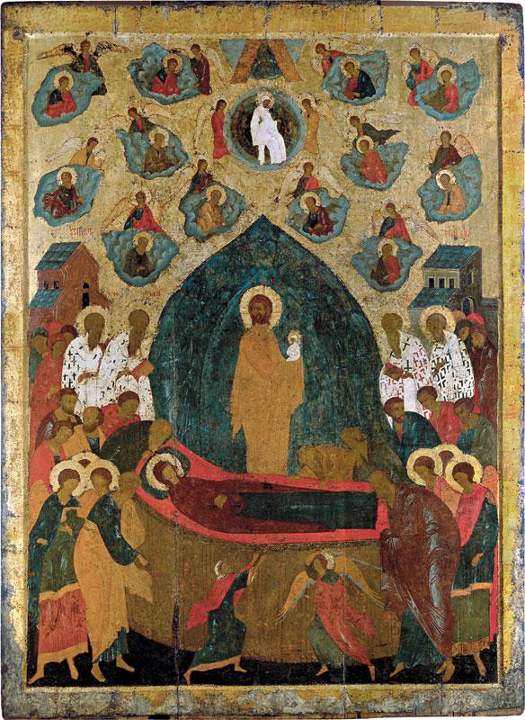 Успение. Икона местного ряда Троицкого собора. Дионисий, 1499-1500 гг.