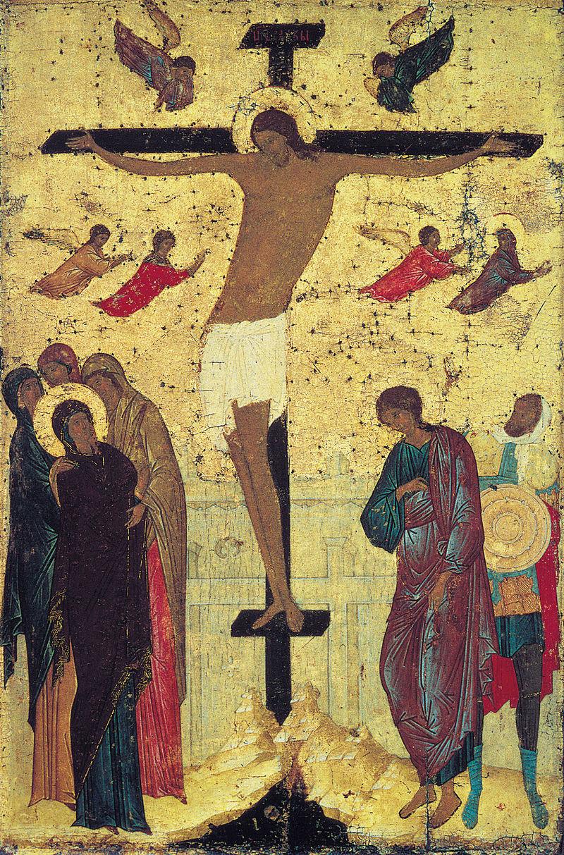 Распятие. Икона праздничного ряда Троицкого собора. Дионисий, 1499-1500 гг.